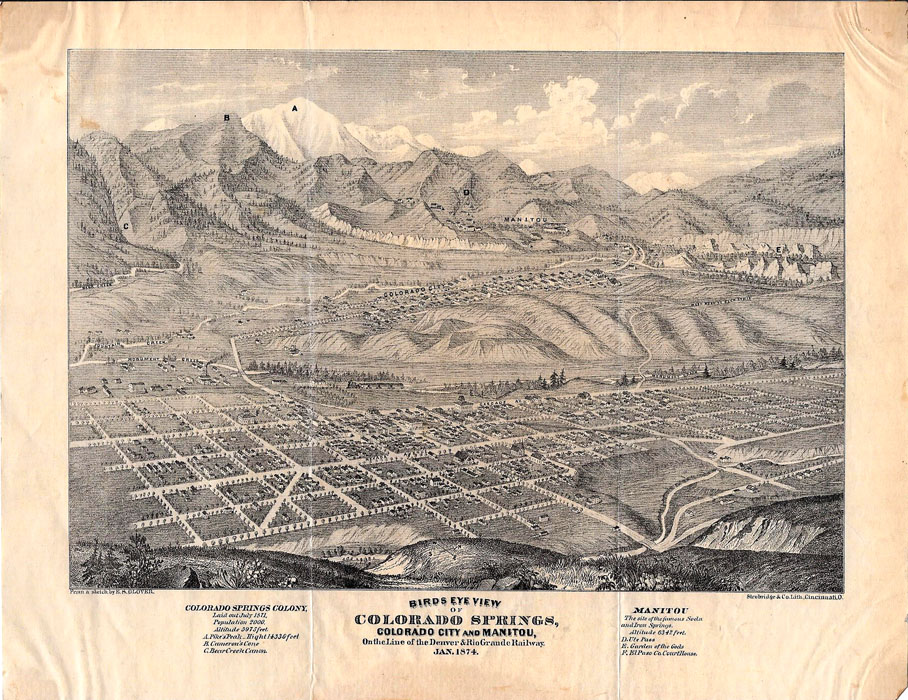 Colorado Springs Rare Books Colorado Old Maps Old Photographs - Map of colorado