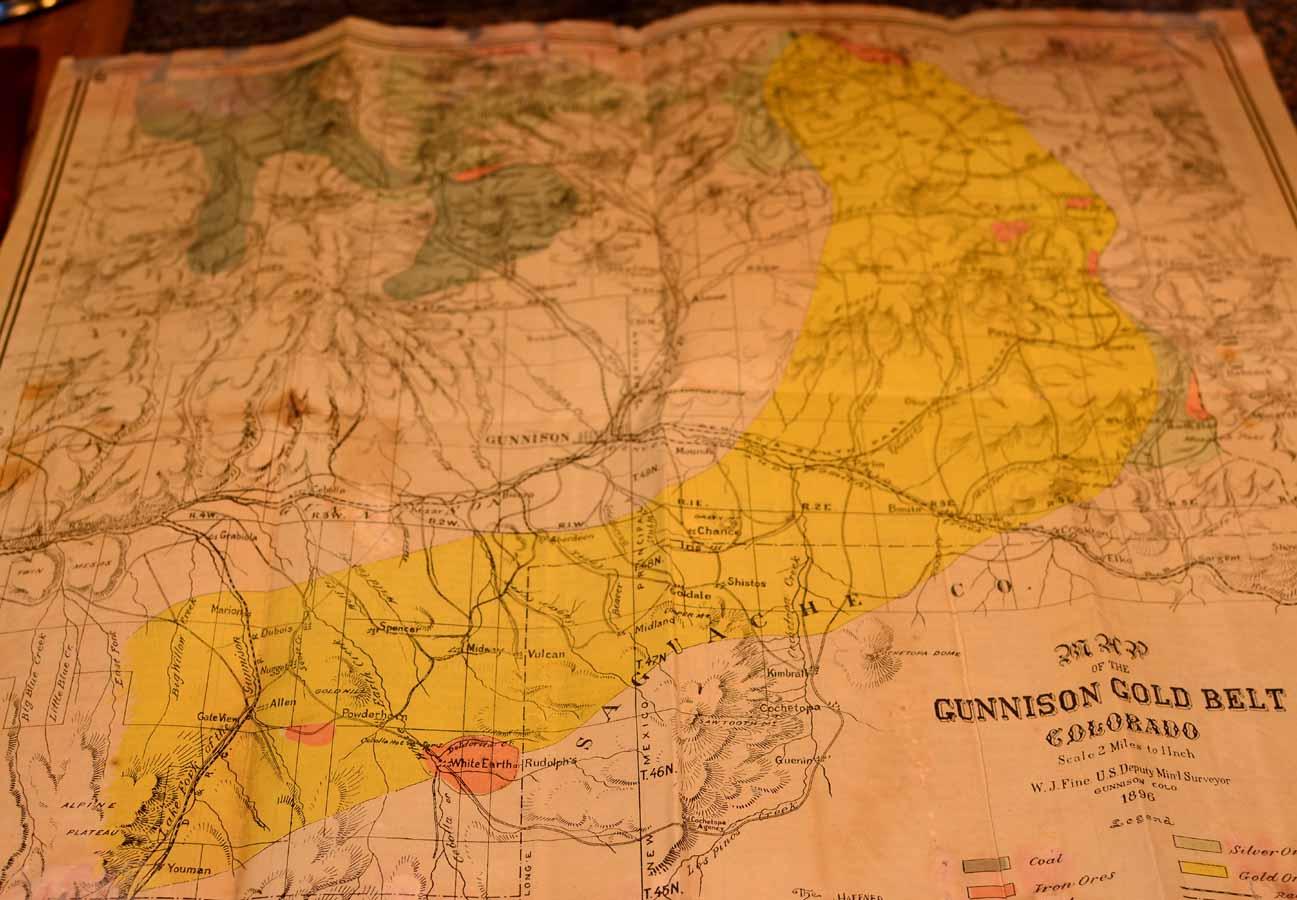 Gunnison County Colorado Map.Gunnison Gunnison County Colorado Rare Books Western Americana