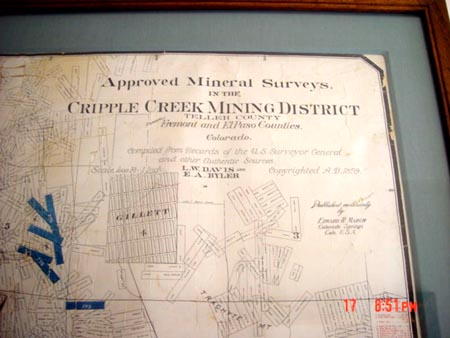 Cripple Creek claim map Dorsey Co 2.jpg (35956 bytes)