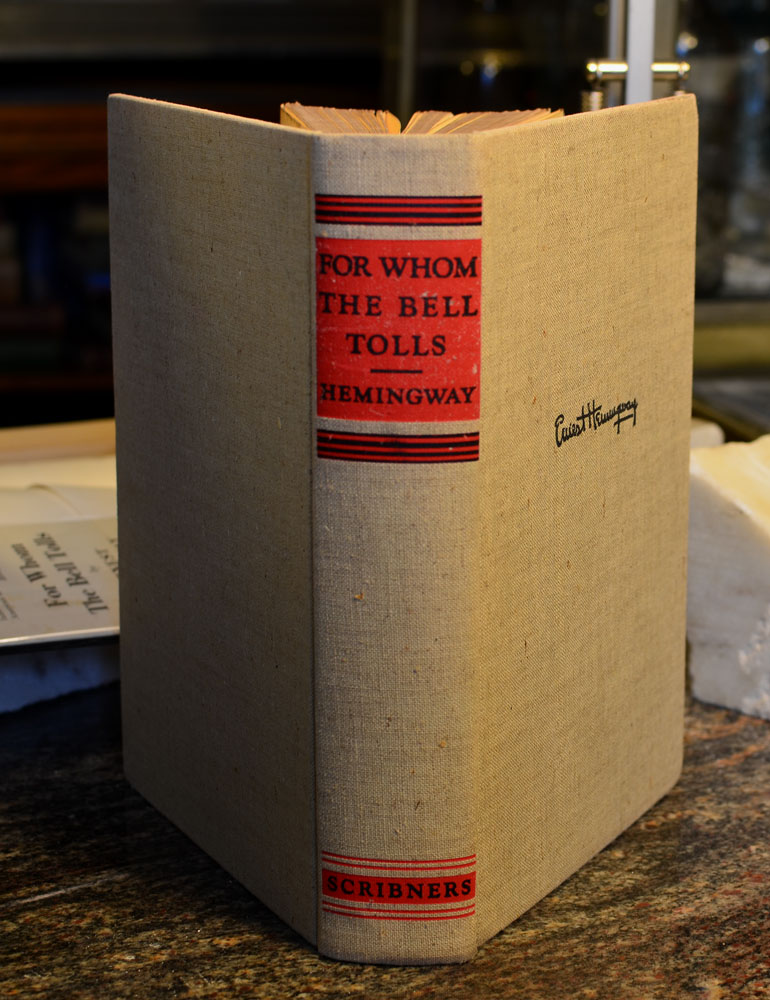 Ernest Hemingway, first edition, FOR WHOM THE BELL TOLLS