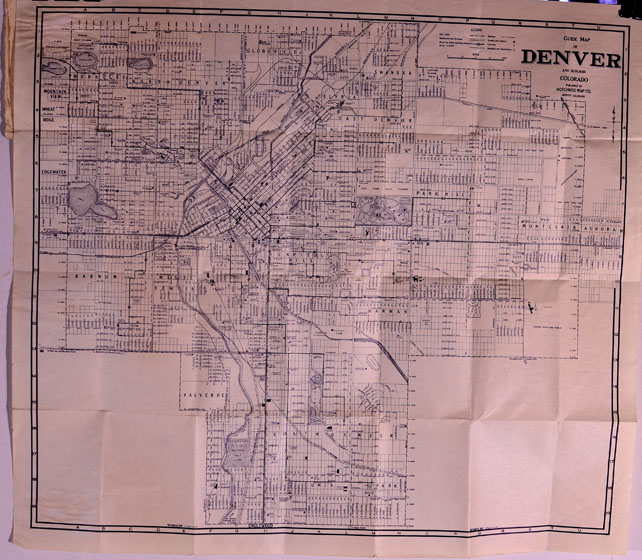 Colorado Pocket Maps Clason Map Company And Other Publishing - Denver Circled On Us Map