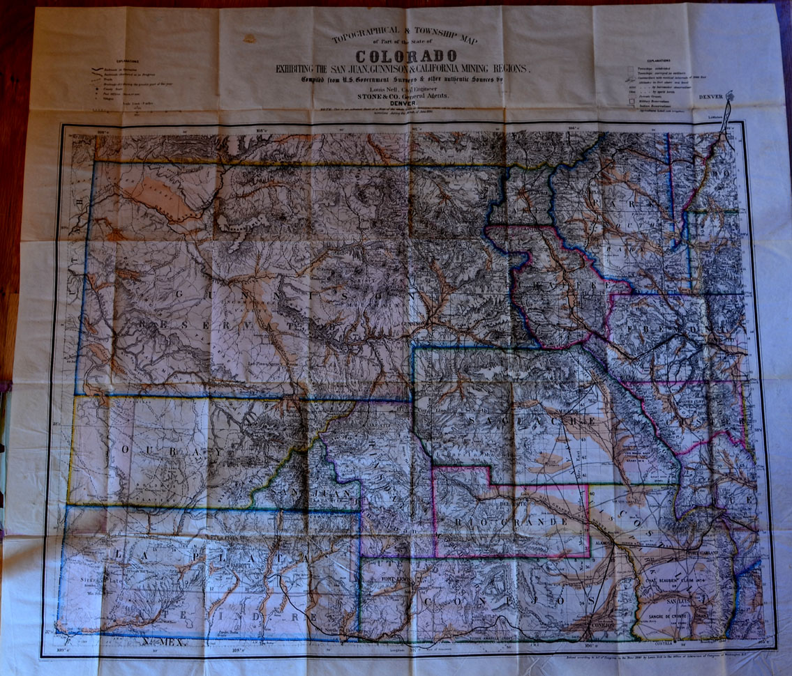 Nell\'s Map of Colorado. MT. GOTHIC TOMES AND RELIQUARY
