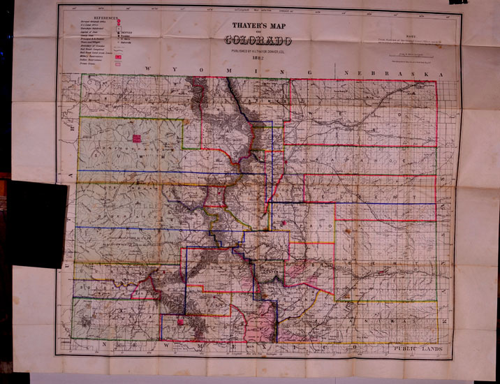 Thayers Map Of Colorado Pocket Map Published By H L - Map of colrado